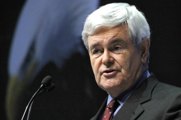 Newt Gingrich addresses the National Rifle Association in April.
