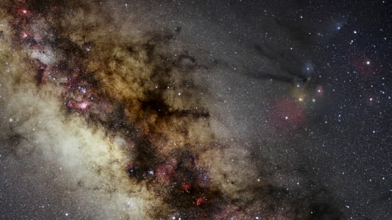 The details of the Scorpius constellation, right, and the Milky Way, are seen in this photograph provided by Nick Risinger of Skysurvey.org, which is taken from an image Risinger produced of the entire night sky made up of a composite image of more than 37,000 exposures taken in different locations all over the world.