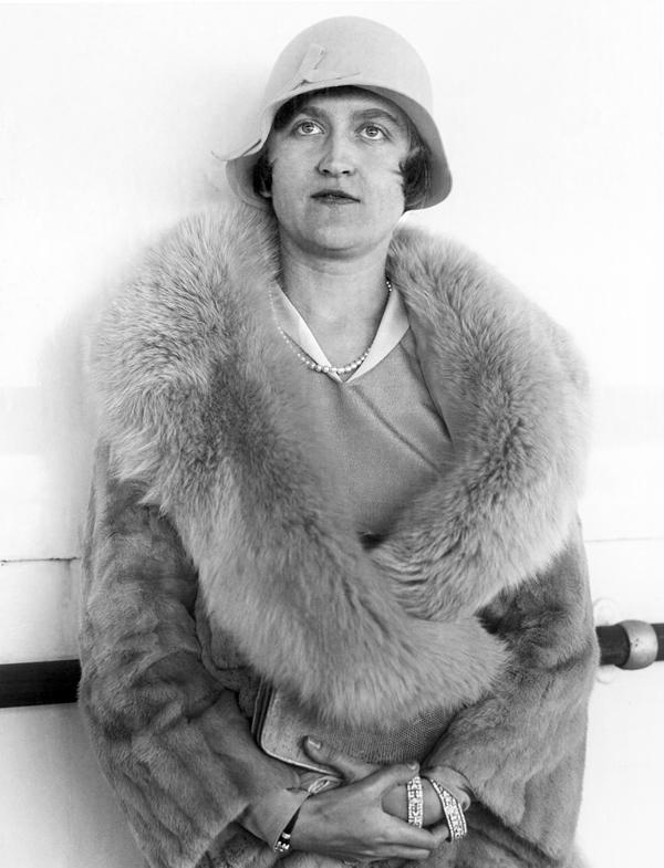 Mrs. Huguette Clark Gower in Aug. 1930