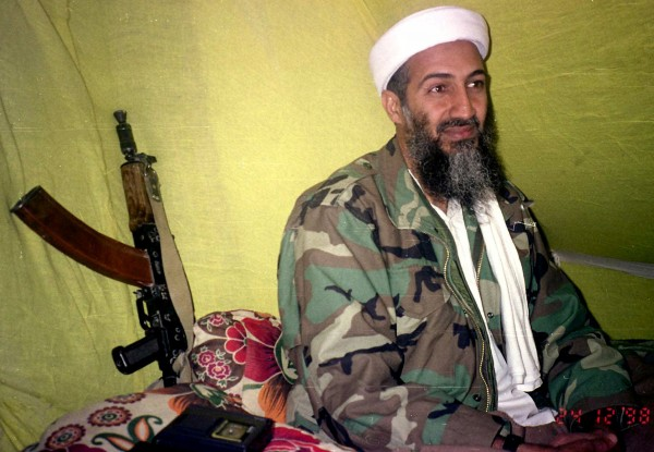 Muslim militant and Al Quida leader Osama Bin Laden speaks to a selected group of reporters in mountains of Helmand province in southern Afghanistan in this Dec. 24, 1998 file photo. The United States confirmed that Osama Bin Laden is dead late Sunday, May 1, 2011.