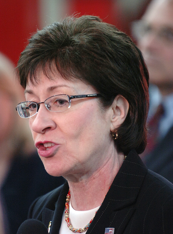 Maine U.S. Senator Susan Collins, visited the Military Authority in Limestone in April 2010.