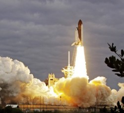 Endeavour soars on shuttle program's next-to-last trip