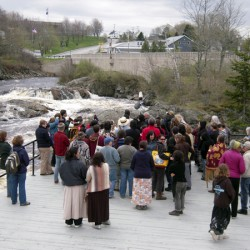 Native Americans' Water Walk sets out from Machiasport for Wisconsin