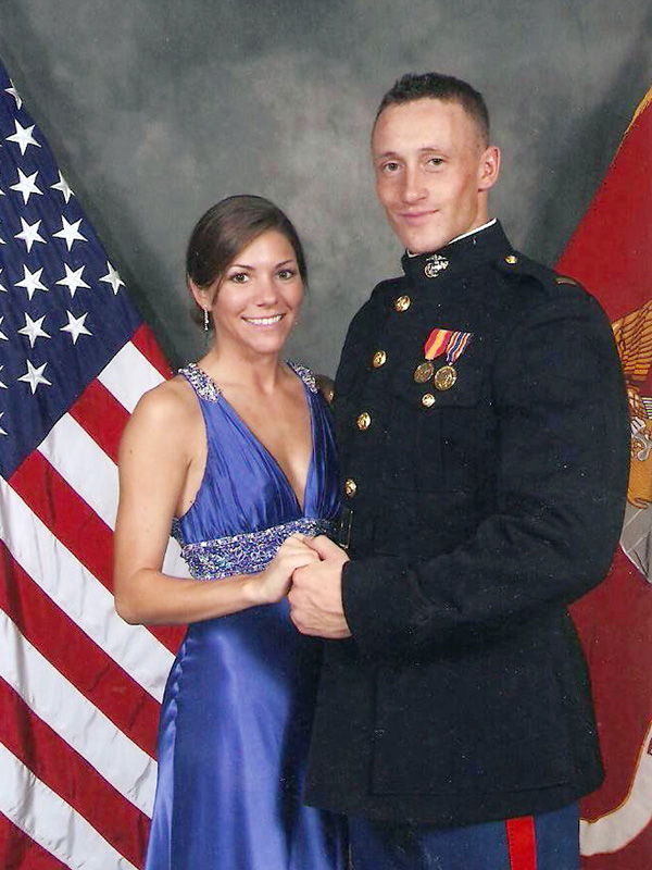 Lynel Winters and 1st Lt. James Zimmerman at the Marine Corps Ball (2008) during James' training at The Basic School (TBS) in Quantico, VA.