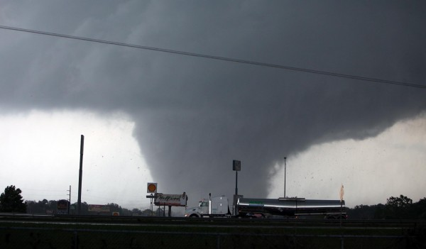 A strong tornado moves through the city of Tuscaloosa, Ala., Wednesday, April 27, 2011.