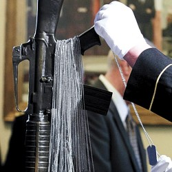 Mainers killed in action honored at solemn State House ceremony