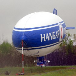 Weather forces Florida-bound blimp to land at Pittsfield airport after two days stuck in Lincoln
