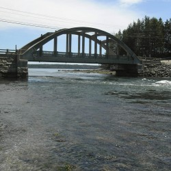 The Maine Department of Transportation is considering replacing the Falls Bridge in Blue Hill. The 85-year-old bridge is located on Route 175 and crosses the inlet to Salt Pond.