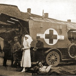 Mary Borden directs the removal of wounded French soldiers to a hospital during World War I. Jane Conway, author of a biography about Borden, will discuss the book at 6:30 pm. May 31 at Camden Public Library.
