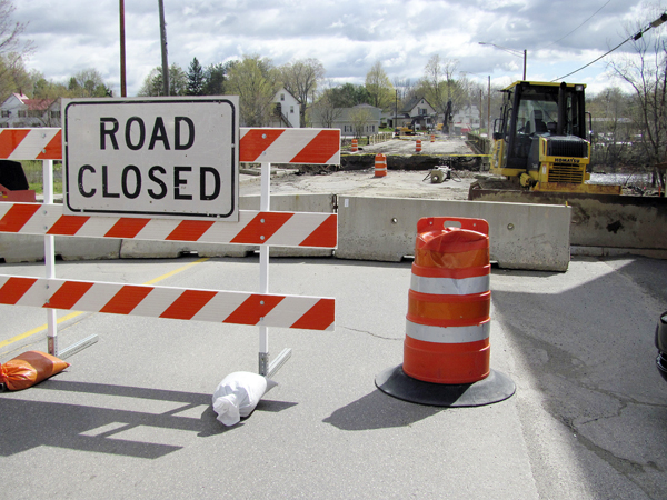 The Route 2 bridge on Main Street in Newport will be closed for construction through the end of August if everything goes right. Because of heavy traffic on the road and narrow in-town streets near the project, detours in some cases take motorists miles out of the way.