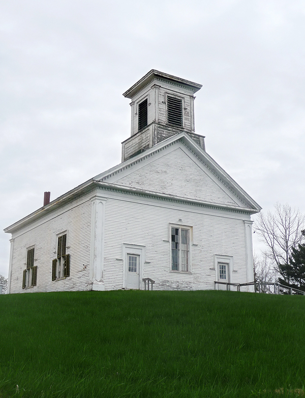 The Friends of The Church on The Hill in Addison just received a $97,000 grant from the U.S. Department of Agriculture for restoration. The structure's belfry is collapsing into the sanctuary and tipping the entire church. If the belfry is not removed this summer, local historian and advocate Terry Grant said the entire building may be lost. If the belfry can be removed and the roof repaired, local supporters hope to turn the church, which was built in 1860, into a community center.