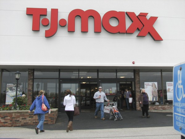 Customers file in and out of a new T.J. Maxx store Sunday morning, May 22, 2011 in Ellsworth. The store was one of seven T.J. Maxx stores throughout the country that had grand openings on May 22. T.J. Maxx has more than 900 stores nationwide.