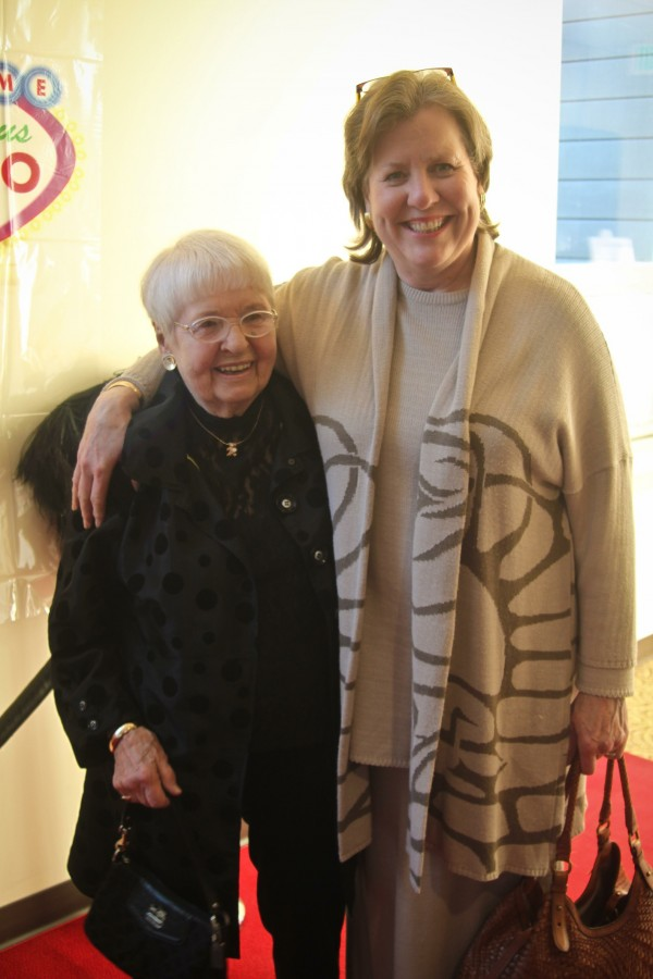 Wilma Bradford (left) of Bangor received the 2011 Gold Heart award at the 12th annual Heart Ball held on April 9 at the University of Maine, Orono. Congratulating Bradford is her daughter, Lynn Bradford Silva.