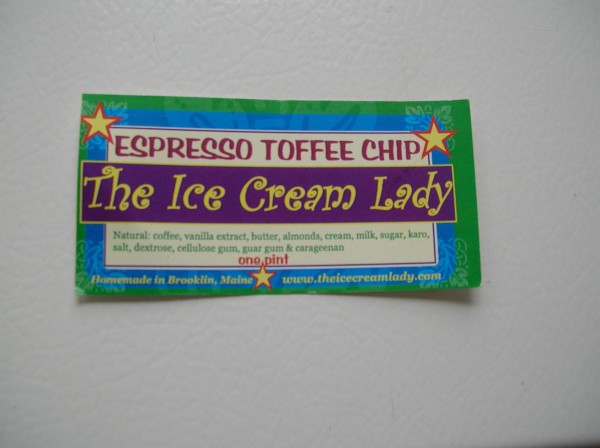 The Ice Cream Lady label.