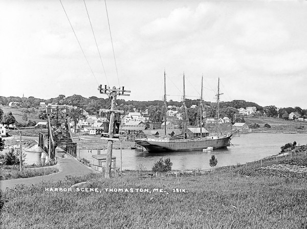 This postcard view of Thomaston harbor is from the archived images of the Eastern Illustrating & Publishing Co. Kevin Johnson will talk about the postcard views at 7 p.m. May 10, Knox Farmhouse & Museum, 80 Knox St, during a meeting if the Thomaston Historical Society.