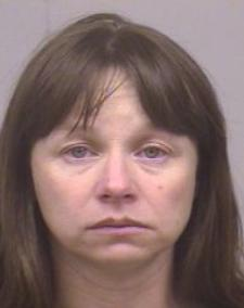 A booking photo of Julianne McCrery from 2005.