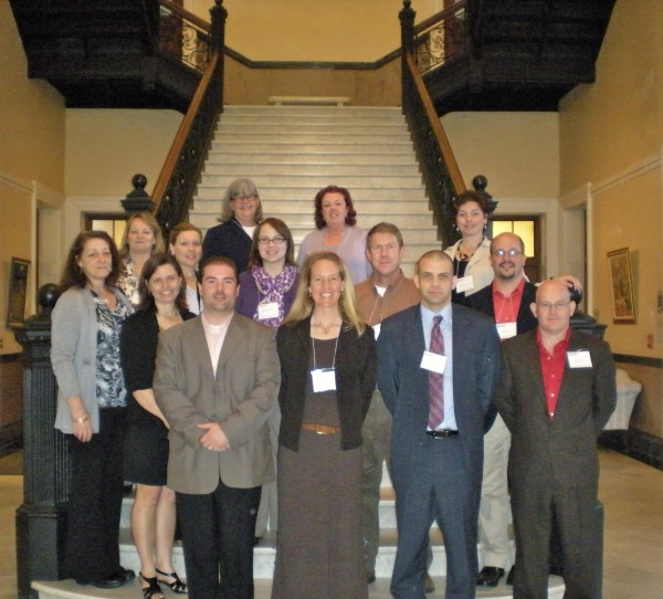 Midcoast Leadership Academy, Class 4, toured the State House in Augusta on April 30. Class members are (front row, from left)  Jim Gamage Jr., Rockland; Kate Bates, Camden; Tom Kittredge, Belfast; Leni Gronros, Rockport; (second row) Chris Melanson, Unity; Victoria Condon, Rockland; Amanda Sawyer, Unity; John Anders, Rockport; Peter Horch, Warren; (back row) Dorothy Havey, Lincolnville; Jasie Costigan, Lincolnville; Lorain Francis, Rockland; Judith Brogden, Rockland and Andrea Rouillard, Waldo.