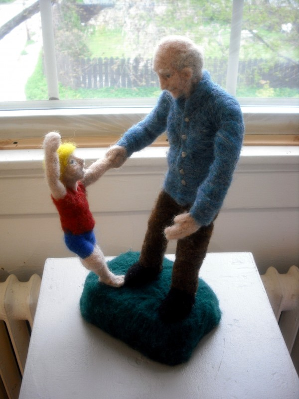 "A felt wool sculpture by Bob Nichols of Brooks is on display at ""A Moment in Time,"" an exhibit that will run through May 30 at the Lincoln Street Center for Arts and Education at 24 Lincoln St. in Rockland."