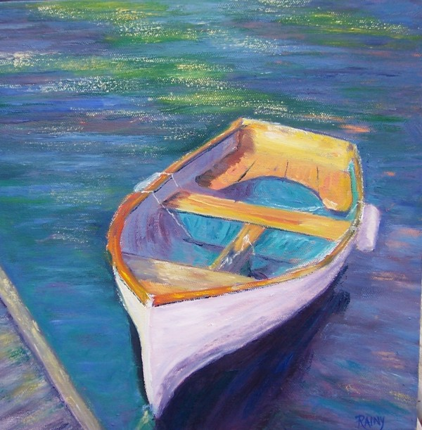 "&quotWaiting,&quot an oil painting by Searsport artist Rainy Brooks, is on display at ""A Moment in Time,"" an exhibit that will run through May 30 at the Lincoln Street Center for Arts and Education at 24 Lincoln St. in Rockland."