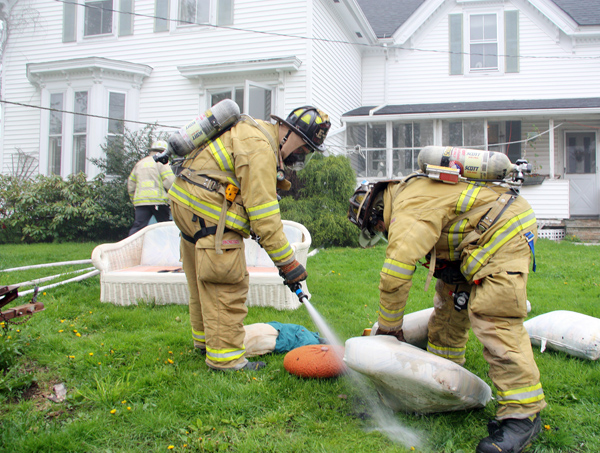 "Rockland Fire Responded to a ""smoke in the building"" call on Friday evening at 54 Oliver Street and found that a couch was on fire."
