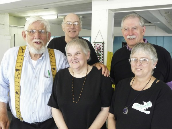 73-year-old Philip Rose of Machiasport was killed Wednesday afternoon, May 11, 2011, after colliding with a tractor-trailer cab on Route 1 in Belfast. Rose (second from left in rear), a member of the poet group Salt Coast Sages, is seen with other members of the group in July 2009. With Rose are (from left, in front) Donald Crane, Grace Sheridan and Sharon Bray; and (right, rear) Gerald George.