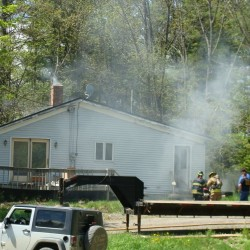 Fire displaces Sangerville family