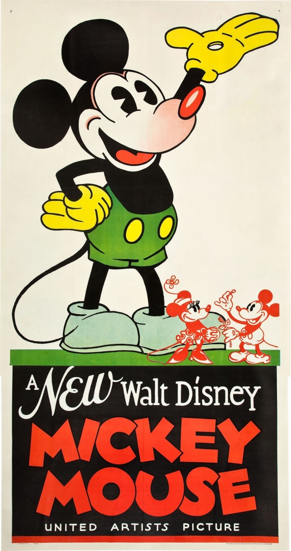 The 1932 Mickey Mouse poster sold for $35,850 recently at Heritage Auctions in Dallas.