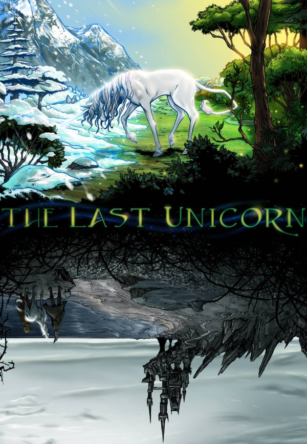 "The comic book version of Peter Beagle's ""The Last Unicorn,"" illustrated by Cape Elizabeth couple Renee De Liz and Ray Dillon."