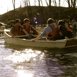 Boat-builders take inaugural paddles around Rockland harbor