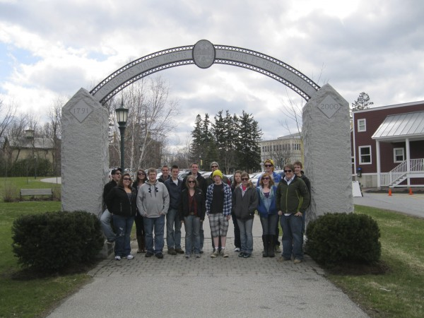 Trekkers visiting the University of Vermont for a tour by Trekkers alum and UVM senior, Luke Martin.