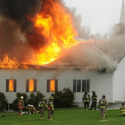 Man dead in fire at Winterport church