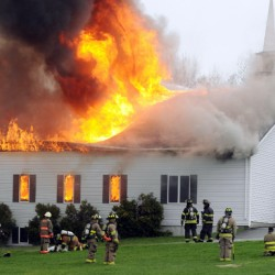 Former pastor's son set fire to Winterport church, himself