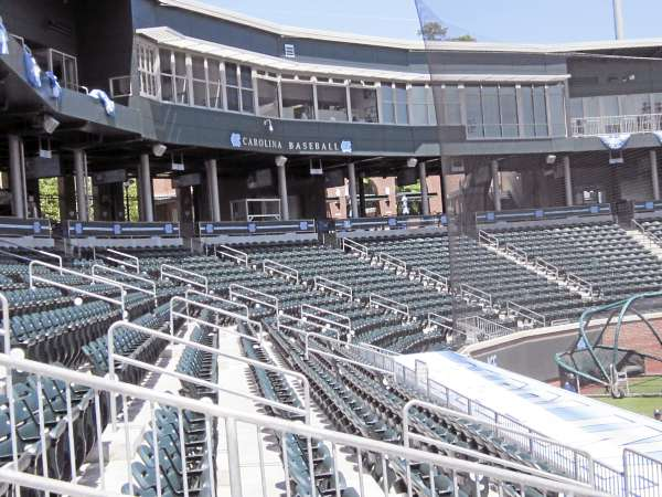 The main grandstand and press box at Boshamer Stadium, the baseball home of the University of North Carolina Tar Heels and the site of the NCAA Chapel Hill Regional baseball tournament starting Friday.