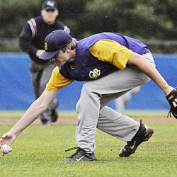 Pitcher unfazed by delay, leads Waterville to Class B baseball title