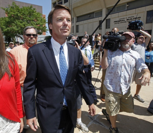 John Edwards leaves the federal building in Winston-Salem, N.C., Friday, June 3, 2011. A federal grand jury indicted the two-time presidential candidate on Friday, accusing him of trying to protect his political ambitions by soliciting and secretly spending more than $925,000 to hide his mistress and their baby from the public during the peak of his 2008 presidential campaign.