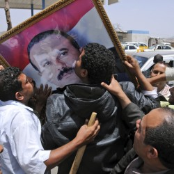 Yemen protesters demand wounded leader's ouster