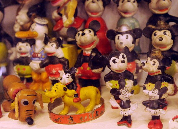 Figurines from the 1930s based on Walt Disney cartoon characters at the Maine Antique Toy Museum in Waldoboro.