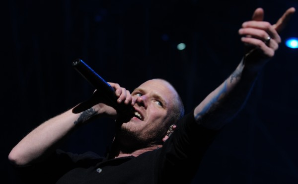 Stone Sour lead singer Corey Taylor performs on stage during the Avalanche concert on the Bangor Waterfront in April.