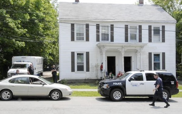 Police are investigating a suspicious death in Bangor. Bangor Police Department's evidence response team was dispatched to 94-96 Fourth St. and gathered evidence in the apartment building's driveway as part of the investigation.