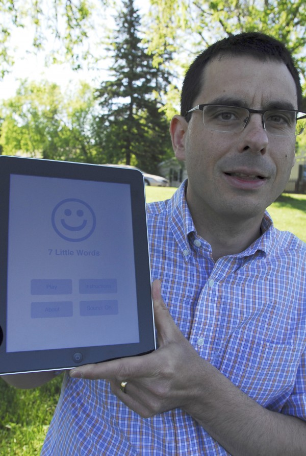 Christopher York, owner of Blue Ox Technologies Ltd. in Caribou, has another hit on his hands with the 7 LIttle Words app for iPhones, iPads and iPods.