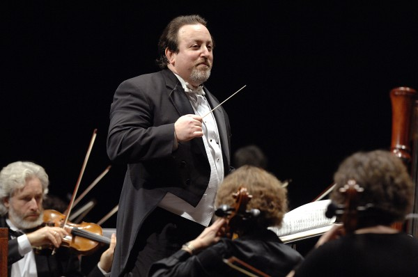 Lucas Richman conducts the Bangor Symphony Orchestra.
