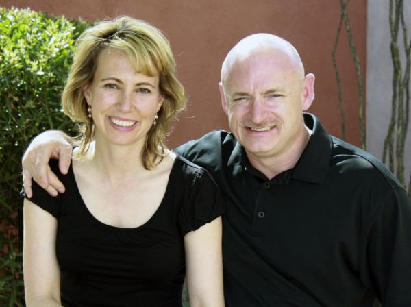 Rep. Gabrielle Giffords, D-Ariz., is shown with her husband, NASA astronaut Mark Kelly, in an undated file photo provided by Giffords' office.