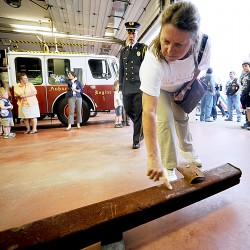 Steel beams from World Trade Center arrive in Freeport
