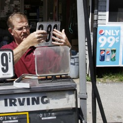 Maine average gas prices drop nearly a nickel