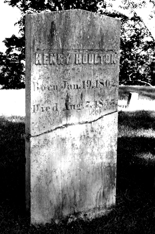 The tombstone of Henry Houlton, the son of Joseph Houlton, who founded the community of Houlton in 1807, is pictured in Evergreen Cemetery in Houlton. The image is pictured in Faded Away, the inaugural photography art table book authored by 38-year-old Fort Fairfield artist Jason Grass.