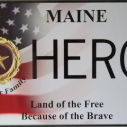 Maine becomes final state with Gold Star plates