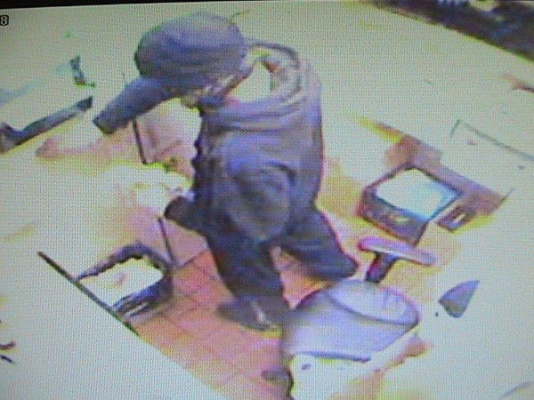 Old Town police are searching for a suspect in the reported burglary of the Dunkin' Donuts on Stillwater Avenue on May 25 or May 26, 2011. The suspect is described as white, 5 foot 7 inches to 5 foot 9 inches, and 180 pounds.
