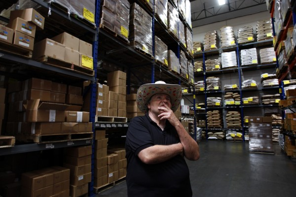 "David Klein, 64, inventor of the Jelly Belly jelly bean, stands in the middle of the Garvey Nut & Candy warehouse surrounded by boxes of candy in Pico Rivera, California, June 16, 2011. Klein began his candy business in the back of a car on the site. Klein was known as ""Mr. Jelly Belly,"" in the early days of his candy career. He sold his product in the summer of 1980 and has regretted the decision ever since."