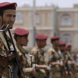 Rocket wounds Yemen president, escalating fight