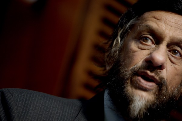 Rajendra Kumar Pachauri, Chair of the Intergovernmental Panel on Climate Change IPCC speaks during the opening of the Nansen Conference  on Climate Change and Displacement in the 21st Century in Oslo on Monday June 6. 2011. More than 42 million people were forced to flee their homes because of natural disasters around the world in 2010, more than double the number during the previous year, experts said Monday.